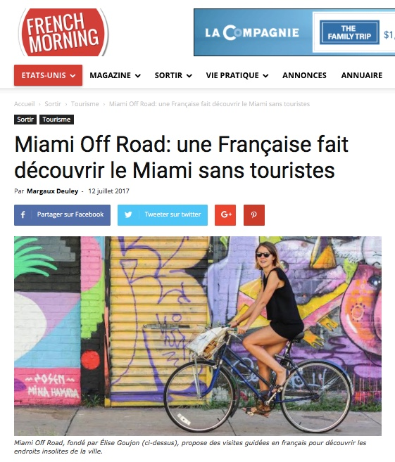 Article Miami Off Road sur French Morning