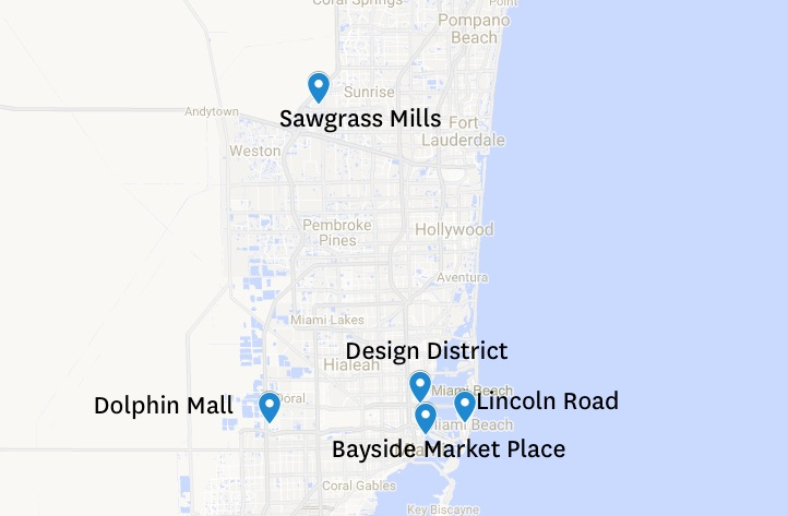 shopping où faire du shopping à Miami et alentours centre commerciaux miami malls miami blog miami off road