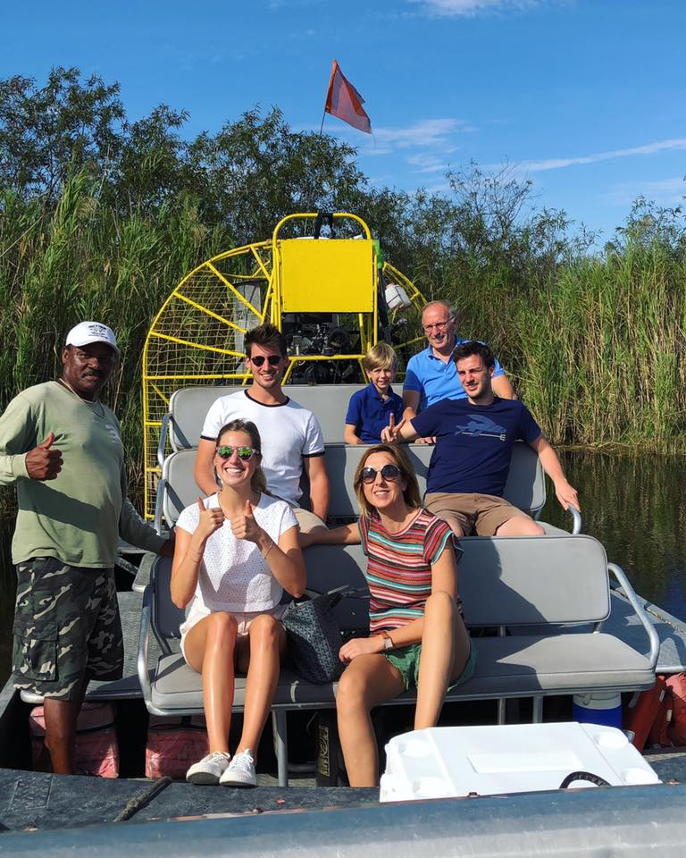 airboat et groupe - everglades - miamioffroad